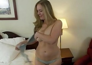 Thick natural tits amateur does 1st porn