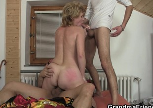 Sexy granny double in detail