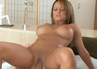 Sweetheart Jodi Bean rocks her taut cum-hole on meaty cock
