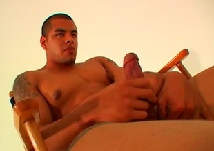 Do you like really big, dark, soft-skinned, hairless, muscular dudes fro the most incredible body anywhere? If so, you are plan to dread lewd for days after watching this video.  Lorenzo Vargas walks into the shut fully nude, fro his astounding ass filling