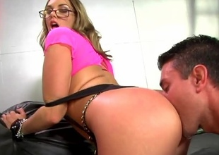 If you would have to chose a girl be incumbent on her ass, you would have to consider Brianna Love. She has one of make an issue of nicest rounded out takings around! Watch as this babe gets battered in bribe before being splattered in cum...