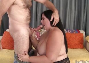Nice-looking BBW Becki Butterfly gets her pussy fucked good