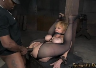 Bound sex resulting anally subdued at the end of one's tether her masters