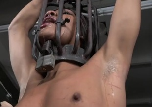 Punishment for a black angel in subjugation