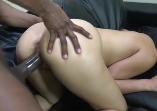 Botheration round hottie fucked by BBC from behind