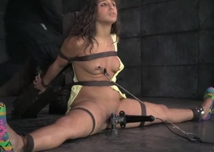 Bound slut in hunger as she gets throat drilled