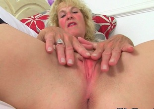 British milfs Molly with an increment of Diana masturbate in black stockings