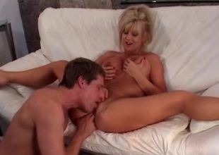 Creamy mom cunt licked and fucked passionately