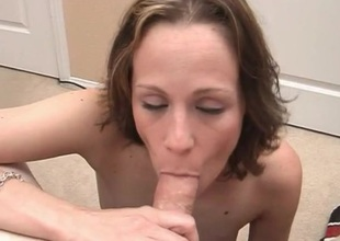 She is damn sympathetic at one's disposal dick and ball sucking