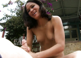 POV handjob in the communal by Linda