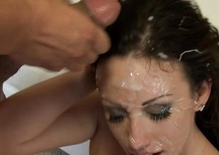 Bukkake cum crapulent Jennifer White can't get enough rod or cum