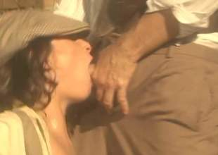Busty brunette and hot mendicant light of one's life with their hat on in this nice parody. Hawt woman gets will not hear of trimmed bush screwed silly beside his retro auto in this hardcore scene. See and enjoy!