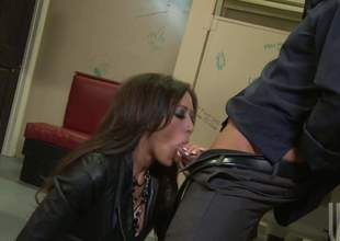 Gorgeous brunette Capri Cavali with flawless represent boobs gets her soaking moist slit screwed good and hard with her nicked fishnet pantyhose on. Watch busty slut get humped