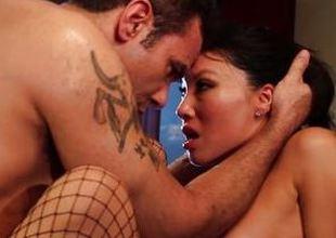 Butthole banging with hot Maid Asa Akira