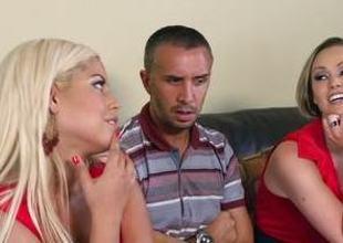 FFM threesome there Bridgette B and Abbey Brooks