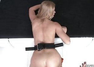 Hot babe gets her wet pussy slammed