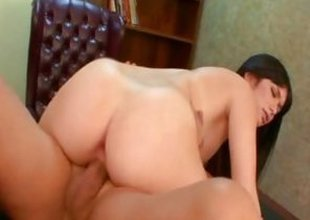 Ashlyn Rae rides her pussy on this indestructible dick