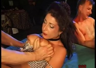 Exciting babe turns forward for an orgasmic doggystyle drilling in a close up burst