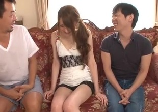 Excellent threesome alng superb Mai Shirosaki