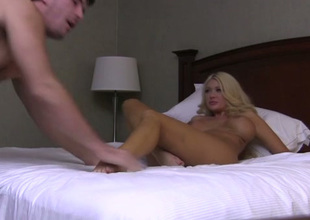 Just outstanding and beautiful blonde GF gives terrific oral to her BF