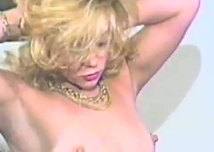 Eager aureate milf sucks a cock in good shape rides it hardcore in an epic retro episode