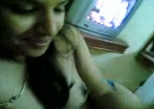 My Indian web camera henchman shows their way natural tits to me