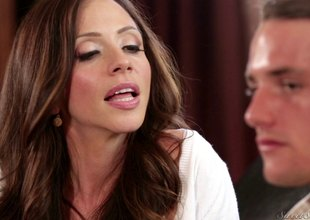 Amazingly lord it over MILF likes hardcore sex with college studs