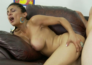 Hot Latin mom Persia Pele banged in doggy style on the couch