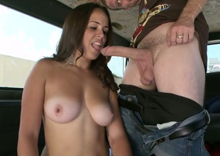 Loved dark brown chick Mia Angelina gives fantastic blowjob