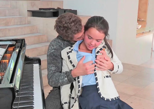 Be in charge cute teen fucked unconnected with her lewd piano teacher