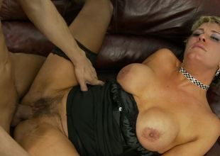 Hairy mamma Chloe Wilder and a juvenile dick get it on