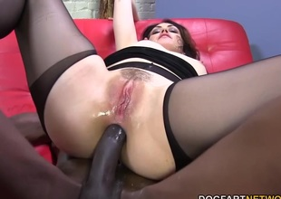 Sarah Shevon loves butt slam with big black cock