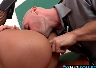 Expansive hard cock riding with horny babe Jasmine