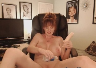 Despondent Big Tits MILF Shows Cold in a Despondent Pussy Maturbation Show