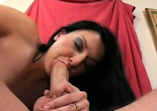 Renee Pornero slips a dick down her throat and acquires well supplied deep everywhere her close-fisted ass