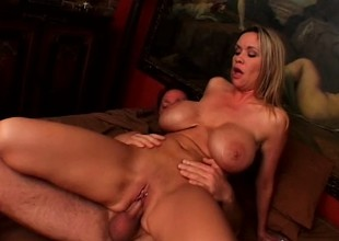 Bridgette's distinguished tits shake and amphora as she gets fucked deep and hard