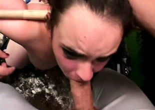 Blistering baseball player has a slutty brunette blowing his throb stick