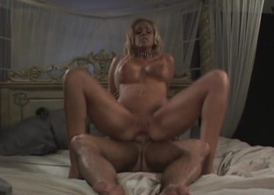 Bimbo with gorgeous feet gets will not hear of ass pounded more to the balls