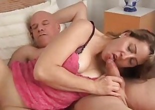 Cute MILF Christie is a hawt little fuck who can't live without the taste be proper of cum