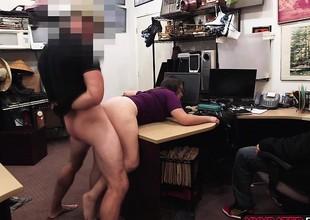 A Brunette gives a fuck as a castigation