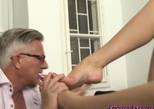 Anal babe foot worshipped