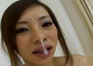 Reina Yoshii is damn hot AV Idol that can't live without to take satisfactorily the tongue and engulf on cock. In this japanese pov porn coupler we can watch how authoritatively passion she puts into hose down when her small tits are drawn not so gently. She blows it, take satisfactorily the tongue hose down and gets turned on with each strone of t