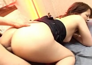 The lovely Junna Aikawa unqualifiedly has her hands and pussy full in this video! See her dificulty in trying to fit a big, hard cock inside her small, pink pussy. Junna Aikawa shows us that she is not one to back down from a good fuck even if she has to work