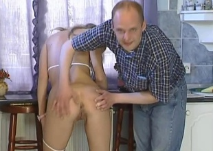 This horny hungarian golden-haired bombshell is attached by two males be worthwhile for some flagitious 3 way action. She plays with herself a show then this babe drops to here knees overhauling the a handful of and the other guys cocks, then Robert gets on his knees and helps Angie suck off Sziszi. Once that chap is good and