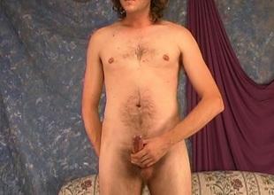 Long haired blonde gay jacks big jock