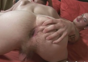 Broke guy gets ass drilled by dildo