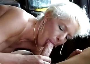 German MIlf picked nearby be fitting of wild car sex
