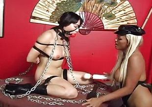 Asian busty brunette has a bound up coition set-to