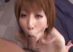 Amazing Rei Sasaki rides and sucks like a dominatrix