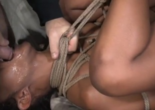 Skilled rope servitude makes the basic girl an simple fuck